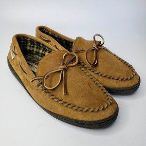 Hideaways Brown Suede Moccasin Slippers 11M